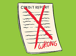 Cartoon Credit Report with red x through it