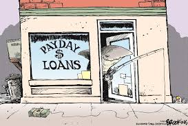 Comic of Payday Loan Store
